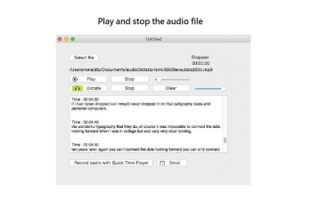 Agile Dictate - audio file transcription and dictation by automatic speech recognition スクリーンショット2