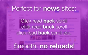 FastBack - the browser that doesn't reload when you go
