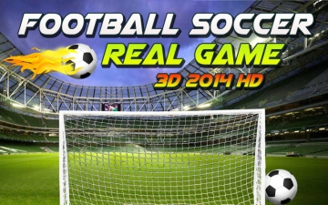 Football Soccer Real Game 3D 2014 (Most Amazing Real Football Game is Back) スクリーンショット1