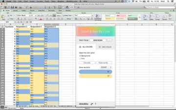 Count & Sum by Color for Microsoft Excel スクリーンショット1