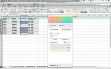 Count & Sum by Color for Microsoft Excel スクリーンショット2