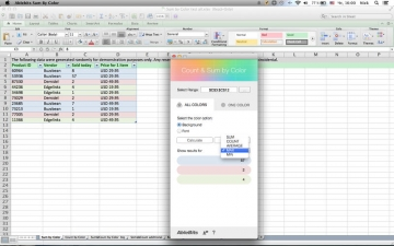 Count & Sum by Color for Microsoft Excel スクリーンショット3