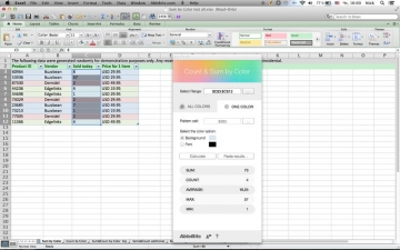 Count & Sum by Color for Microsoft Excel スクリーンショット4