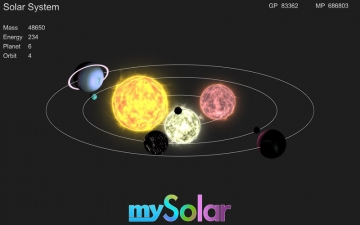 mySolar - Build your Planets スクリーンショット1