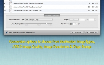 PDF to JPG : The Batch PDF to Image Converter スクリーンショット2