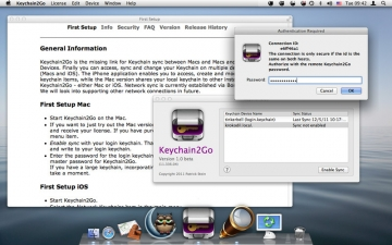 Keychain2Go - Password Manager and Keychain Sync スクリーンショット1