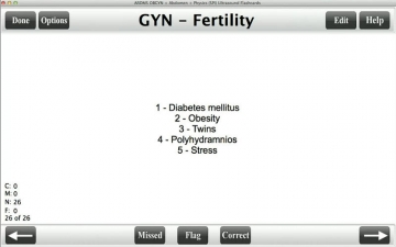 ARDMS OBGYN Ultrasound Flashcards スクリーンショット4