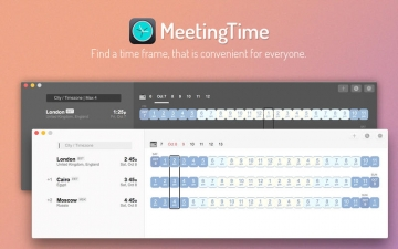 MeetingTime - Across Different TimeZones スクリーンショット1