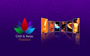 Chill & Relax Fireplace: Fire & Candle HD Video スクリーンショット1