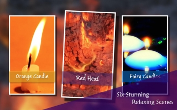 Chill & Relax Fireplace: Fire & Candle HD Video スクリーンショット2