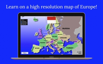 Europe Map Quiz Education Ed. スクリーンショット2