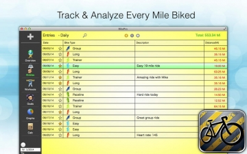 BikePro - Biking & Cycling Log スクリーンショット2
