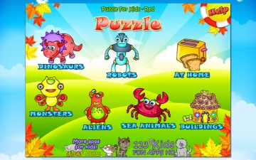 123 Kids Fun PUZZLE RED - Puzzle for Kids スクリーンショット1