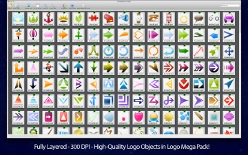 Logo Mega Pack - Logos & Templates for Adobe Photoshop & Elements スクリーンショット5