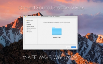 Audaptor - Convert Sound Designer 2 Audio Files スクリーンショット1