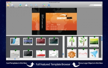 Business Card Maven PSD Templates for Adobe Photoshop Pack 1 - With Logos スクリーンショット1