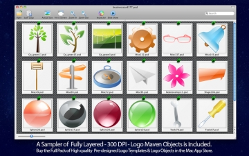 Business Card Maven PSD Templates for Adobe Photoshop Pack 1 - With Logos スクリーンショット5