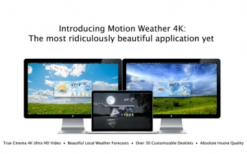 Motion Weather 4K - Ultra HD Dynamic Wallpaper and Weather スクリーンショット1