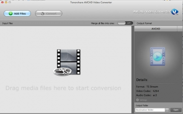 AVCHD Video Converter - Tenorshare スクリーンショット1