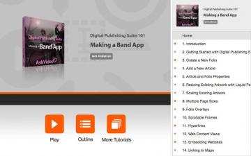 Making a Band App For Digital Publishing Suite スクリーンショット5