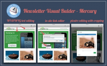 Newsletter Visual Builder - Mercury スクリーンショット1