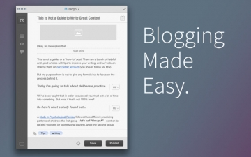Blogo - Simple, powerful blog editor app スクリーンショット1