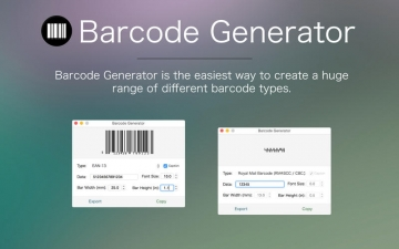Barcode Generator - The best barcode & postal barcode creation app スクリーンショット1