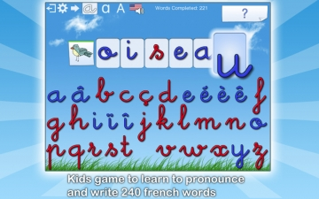 French Words for Kids - Learn to Pronounce and Write French Words with Dictée Muette Montessori スクリーンショット1