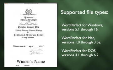 WordPerfect Document Viewer スクリーンショット5
