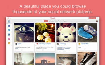 Pixfeed- Photo gallery for Instagram, Facebook, Twitter, Tumblr, Flickr. スクリーンショット1