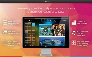 Vidstitch - Video and Picture Collage Frame スクリーンショット1