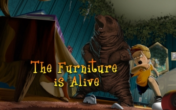 The Furniture Is Alive in 3D - A Peek 'n Play Story App スクリーンショット1