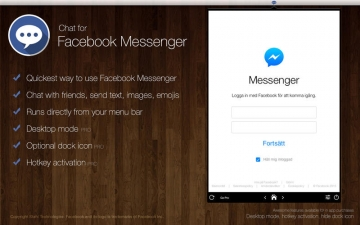 Chat for Facebook Messenger - Instant at your desktop! スクリーンショット1
