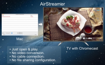 AirStreamer - for Google Chromecast スクリーンショット1