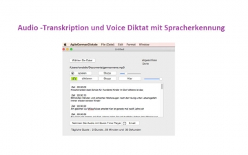Agile German Dictate for file スクリーンショット1