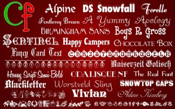 Free Fonts - Christmas Collection スクリーンショット1